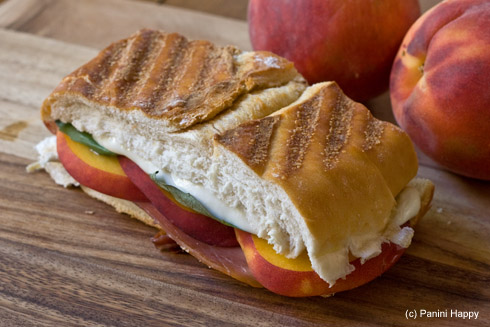 Post image for Peach Caprese Panini