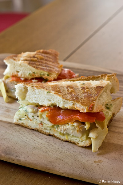 Post image for Garlic Chicken Panini