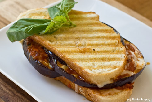 Post image for Grilled Eggplant Parmigiana Panini