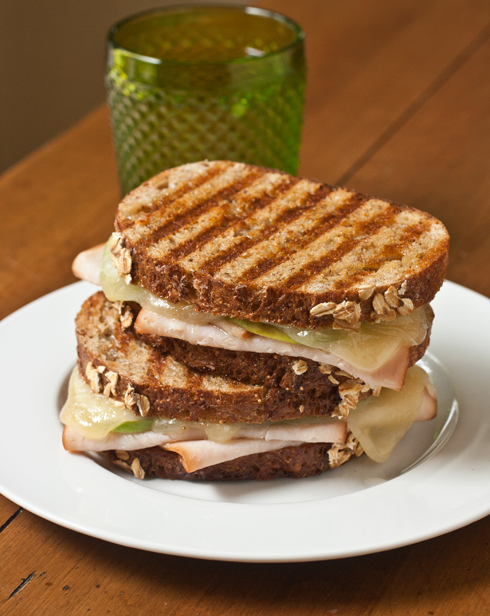 Turkey Apple Panini with Fig and Gruyere