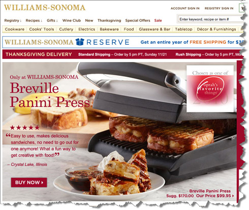 Post image for SALE ALERT: Oprah's Favorite Panini Press