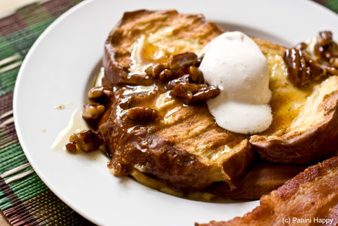 Banana-Stuffed French Toast (on the Panini Grill)
