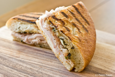Turkey Artichoke Panini at Panera Bread