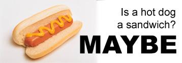 hot dog is not a sandwich