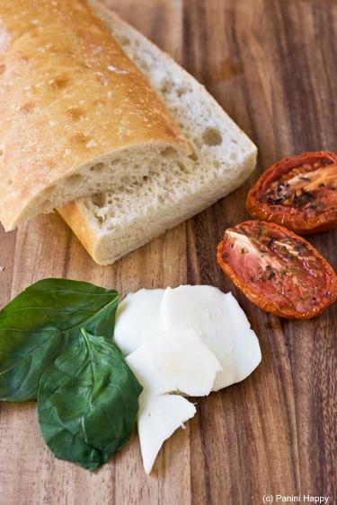 Roasted Tomatoes, Fresh Mozzarella & Basil Panini