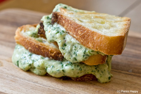 Post image for Green Goddess Grilled Cheese Panini
