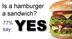 Is a hamburger a sandwich?