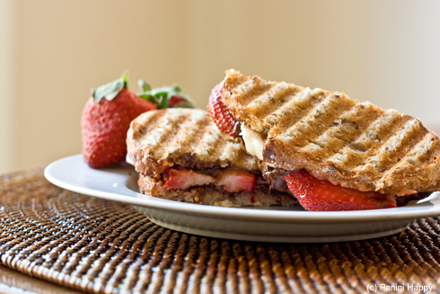 Strawberry, Banana & Nutella Panini