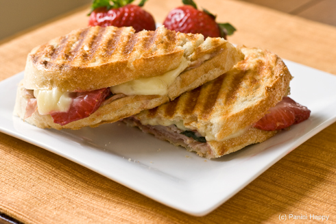 Post image for Turkey, Strawberries & Brie Panini