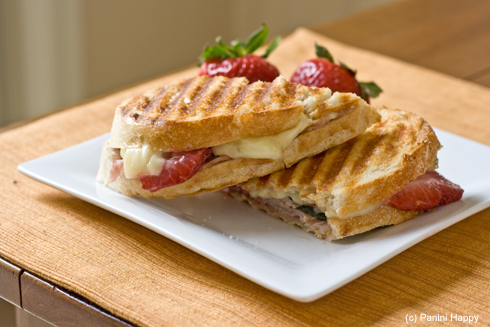Turkey, Strawberries & Brie Panini