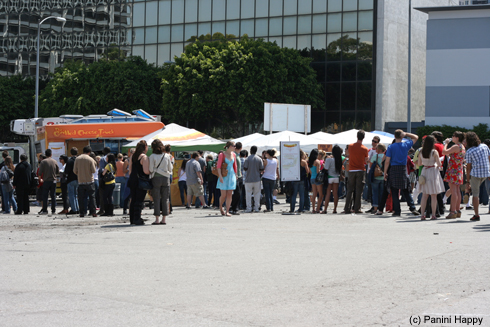 Lines for the food trucks