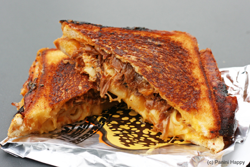 The Grilled Cheese Truck's #1 seller - Cheesy Mac & Rib Melt