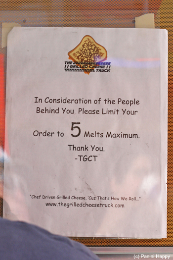 """Please limit your order to 5 melts maximum"""