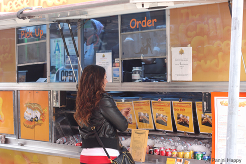 Ordering at the Grilled Cheese Truck