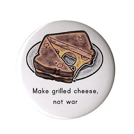 Make Grilled Cheese Not War Magnet, by allegrae