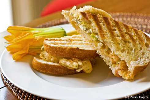 Post image for Squash Blossom Grilled Cheese