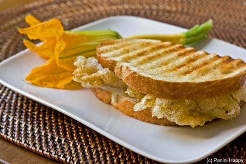 Squash Blossom Grilled Cheese