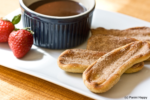 Grilled Churros with Nutella Sauce