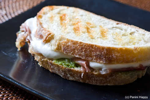 Recipe: Prosciutto, Pesto & Fresh Mozzarella Panini | Panini Happy®