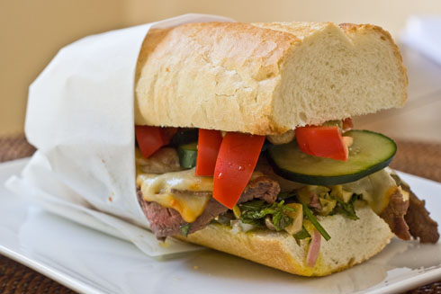 "Post image for Stove-Top Sirloin Sandwiches + ""Big Bowl of Love"" Cookbook Giveaway!"