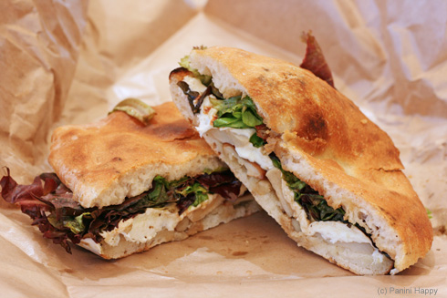 The Market Sandwich - smoked mozzarella and mushrooms