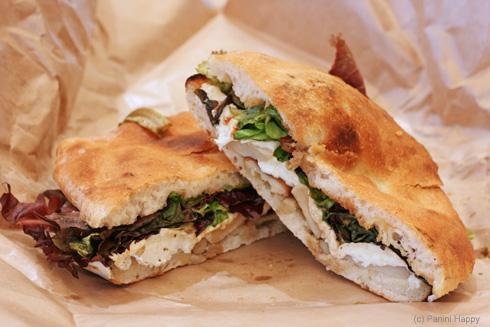 The Market Sandwich - smoked mozzarella and mushrooms