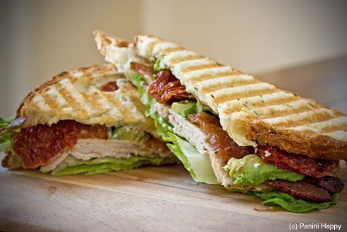 Red, White & Blue Cheese Panini (aka Turkey Cobb Panini)
