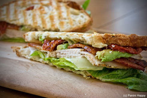 Post image for Red, White & Blue Cheese Panini (aka Turkey Cobb)