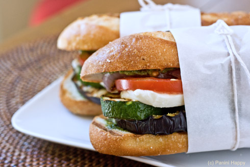 Post image for Grilled Ratatouille Panini + Pesto Giveaway!