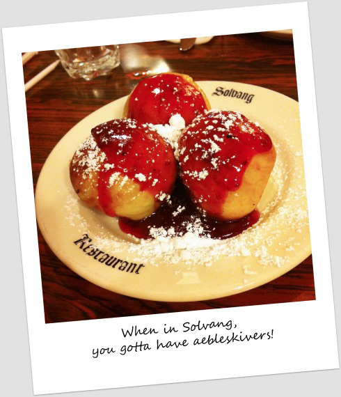 When in Solvang, you gotta have aebleskivers!