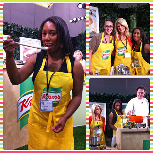 The Knorr demo area at BlogHer '11