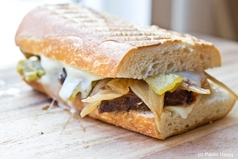 Green Chile Steak Melt Panini