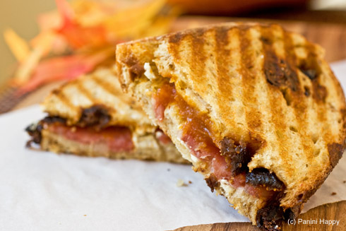 Pumpkin Butter, Sopressata and Goat Cheese Panini