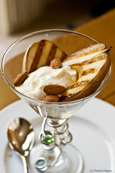 Post image for Grilled Pears with Honey-Whipped Greek Yogurt and Toasted Almonds