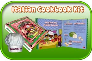 Find the Handstand Kids Italian Cookbook Kit on Amazon