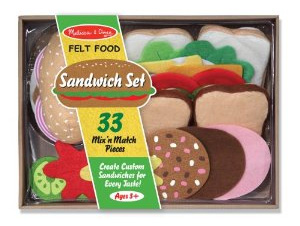 Find the Melissa & Doug Felt Food - Sandwich Set on Amazon