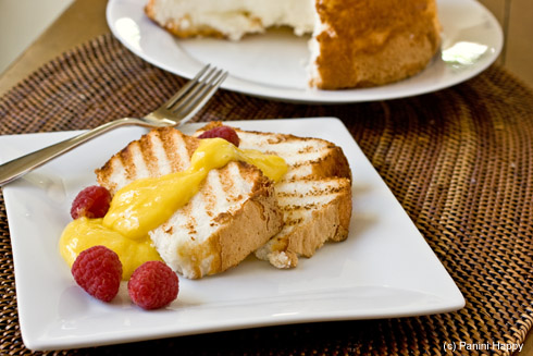 Recipe: Grilled Angel Food Cake with Lemon Curd | Panini ...