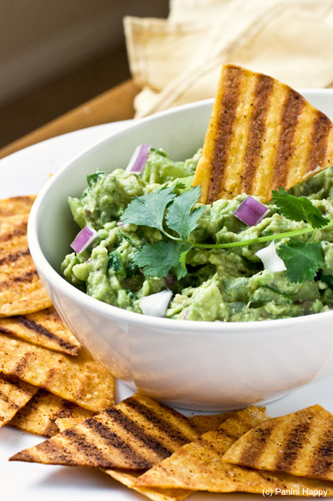 Post image for Grilled Tortilla Chips with Grilled Tomatillo Guacamole