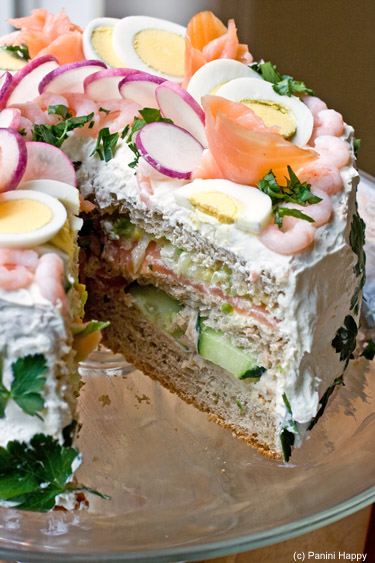 Smorgastarta -- Swedish Sandwich Cake
