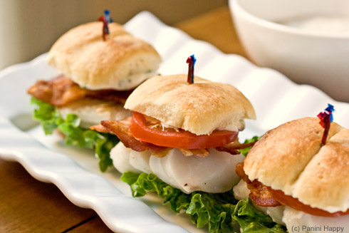 Post image for Big Game Week: Grilled Cod Sliders on Parker House Rolls