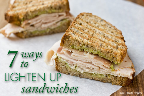 Post image for 7 Ways to Lighten Up Sandwiches (Turkey, Prosciutto & Avocado Panini)