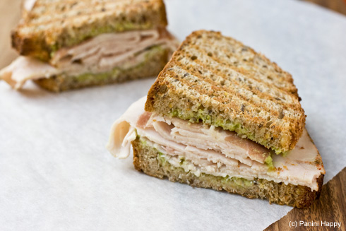 Turkey, Prosciutto and Avocado Panini