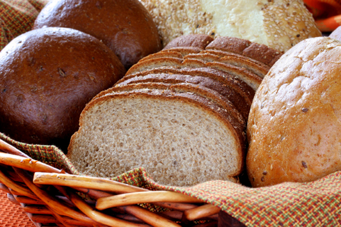 Rolls, baguettes and sliced artisan breads