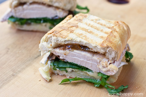 Chicken, Brie, Fig and Arugula Panini