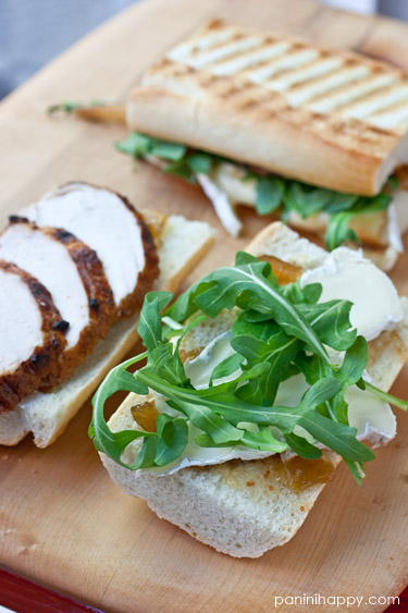 Post image for Chicken, Brie, Fig & Arugula Panini