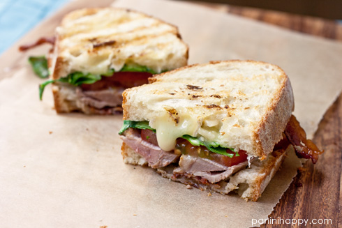Post image for Grilled Duck Breast Club Panini