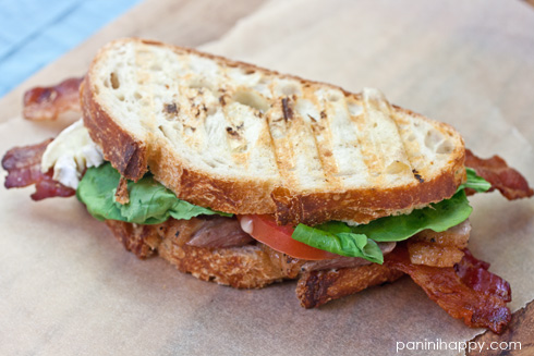 Grilled Duck Breast Club Panini Recipe — Dishmaps