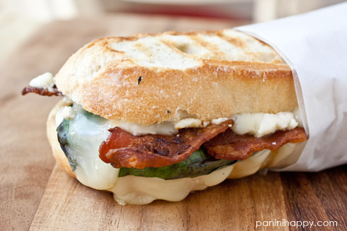 Post image for Brie, Basil, Bacon & Blue Panini…and a Breville Panini Press Giveaway!