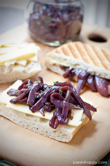 "Post image for Grilled Gruyere with Red Onion Confit…plus Q & A with ""Cheese Wiz"" Gina Freize!"