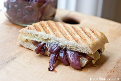 Grilled Gruyere with Red Onion Confit